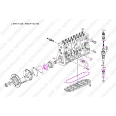 Ремкомплект рядного топливного насоса типа PE(S) 8P..S3000 BOSCH 2417010028