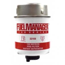 """Дизельный фильтр сепаратор Фильтрующий элемент 150 Мк 3,6"""" 33169 FM 100"""